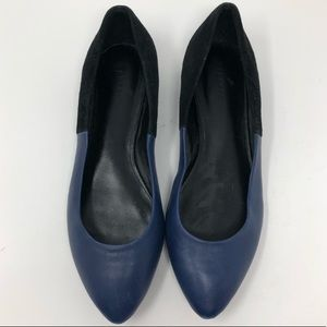EUC {Theory} suede & leather flats